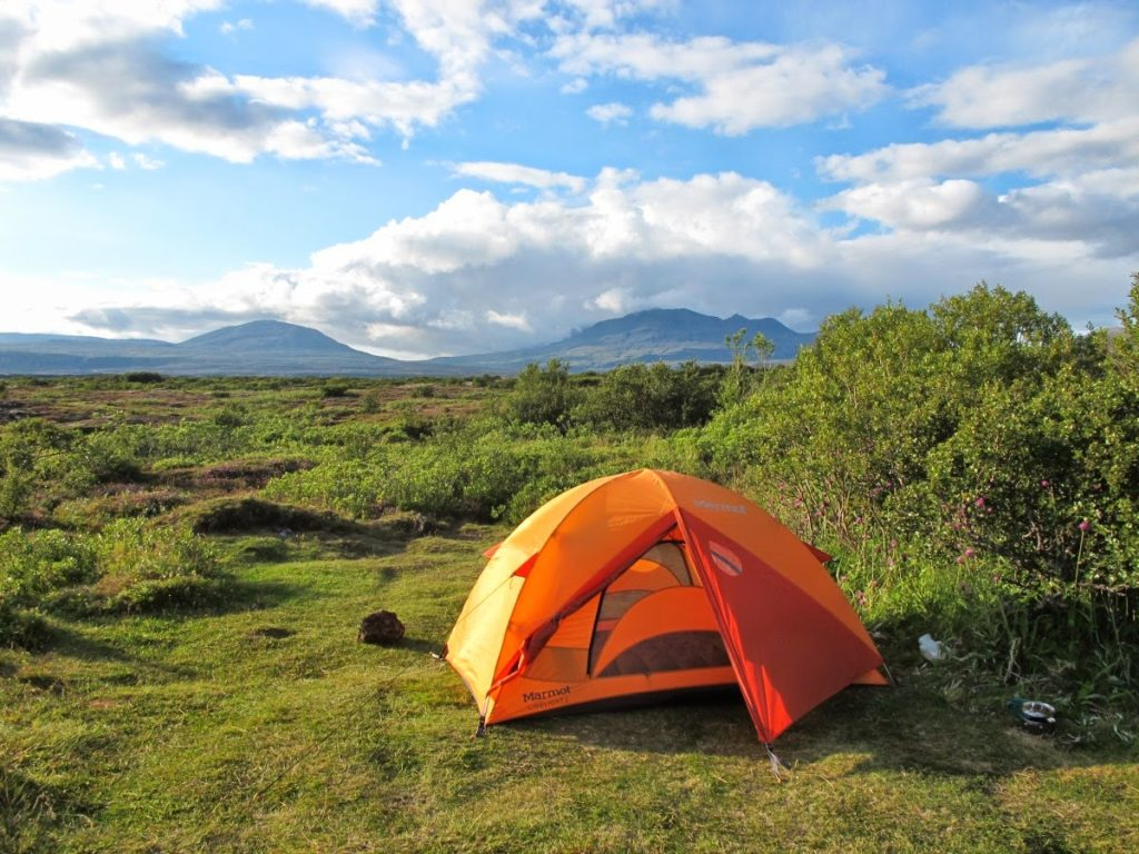 Camper à Þingvellir