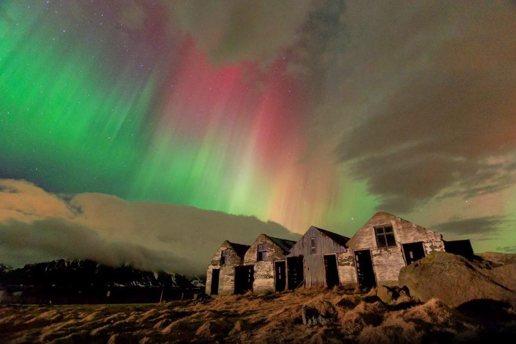Les aurores boréales en Islande