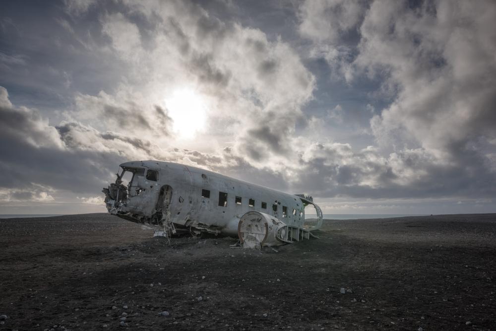L'avion DC-3 sur la plage de Sólheimasandur