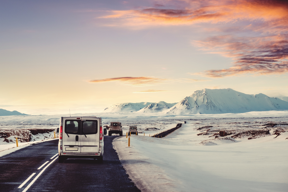 Conduire en Islande en hiver