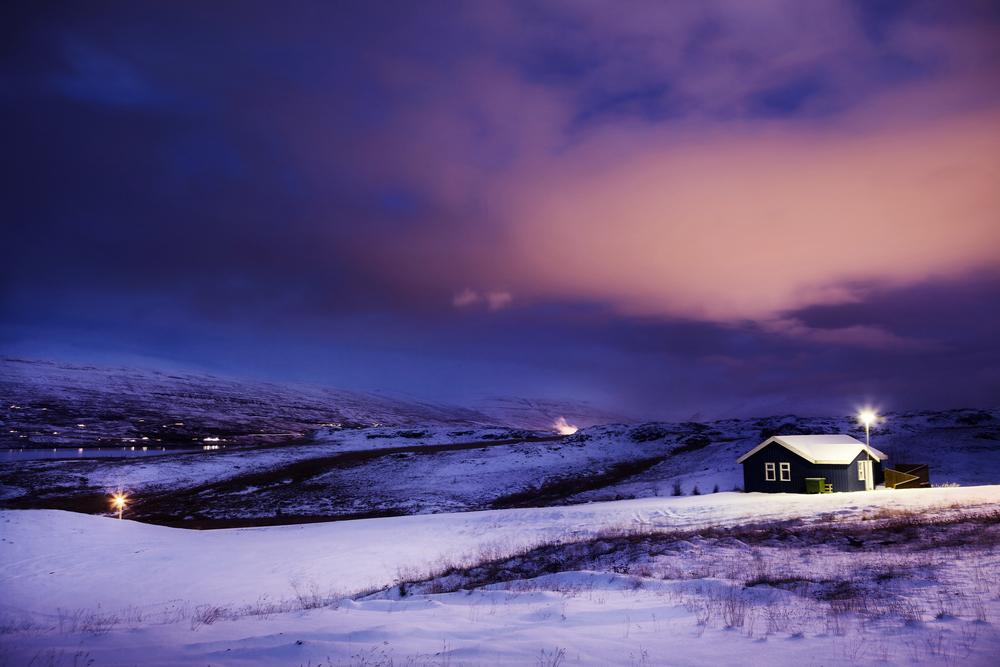 L'obscurité en hiver en Islande