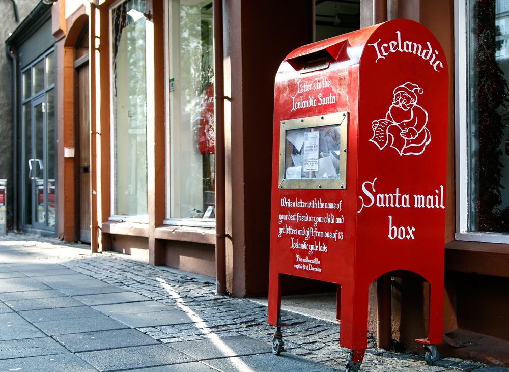 Boîte aux lettres de Noël en Islande
