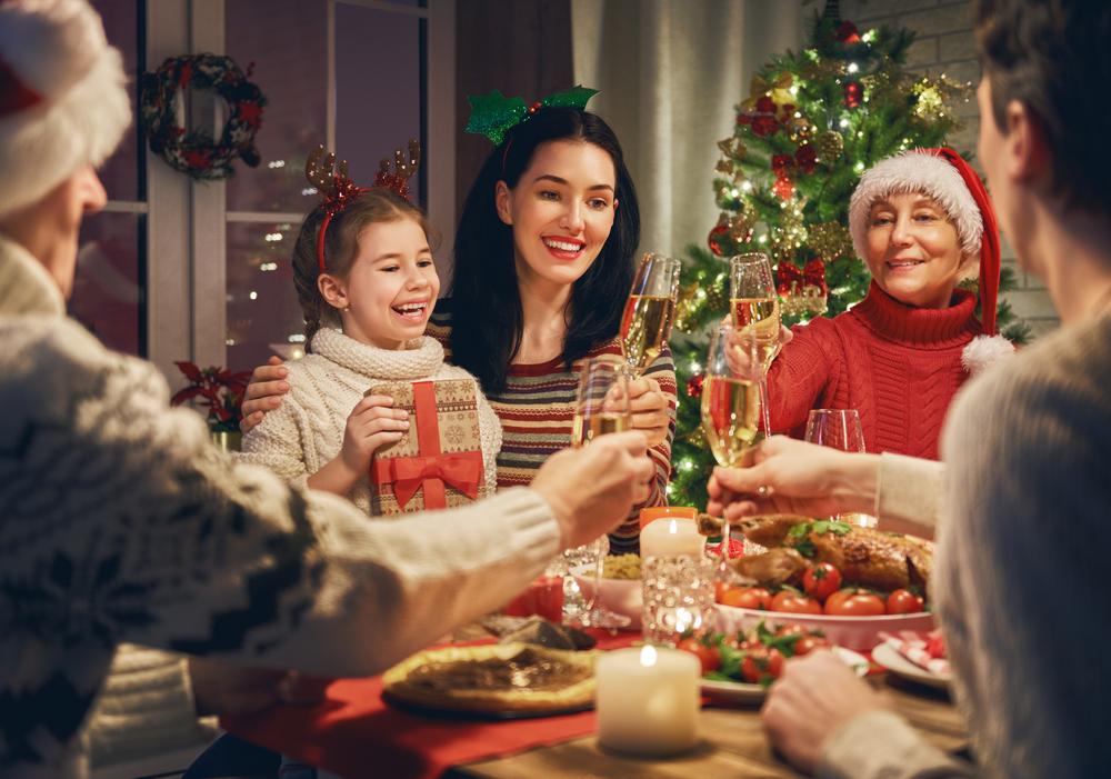 Dîner en famille à Noël en Islande.